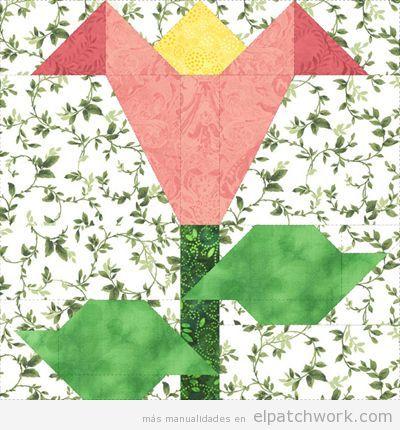 Patrones gratis para descargar de flores de patchwork