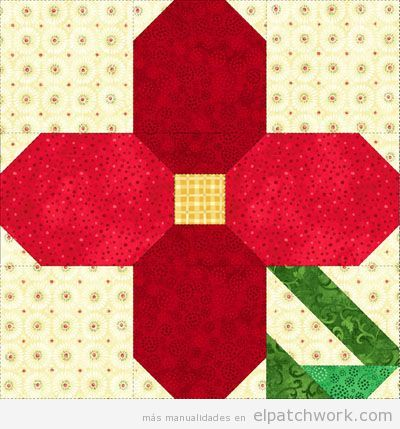 Patrones gratis para descargar de flores de patchwork 9