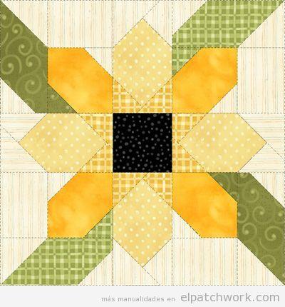 12 patrones de flores de patchwork para el Día de la Madre • El ...