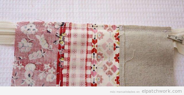 Cómo hacer un estuche de patchwork paso 1