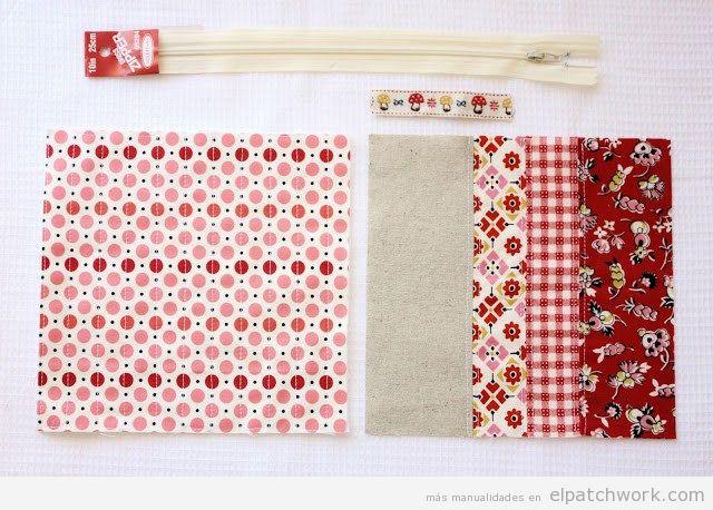 Cómo hacer un estuche de patchwork materiales