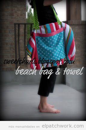 Bolso de playa de patchwork
