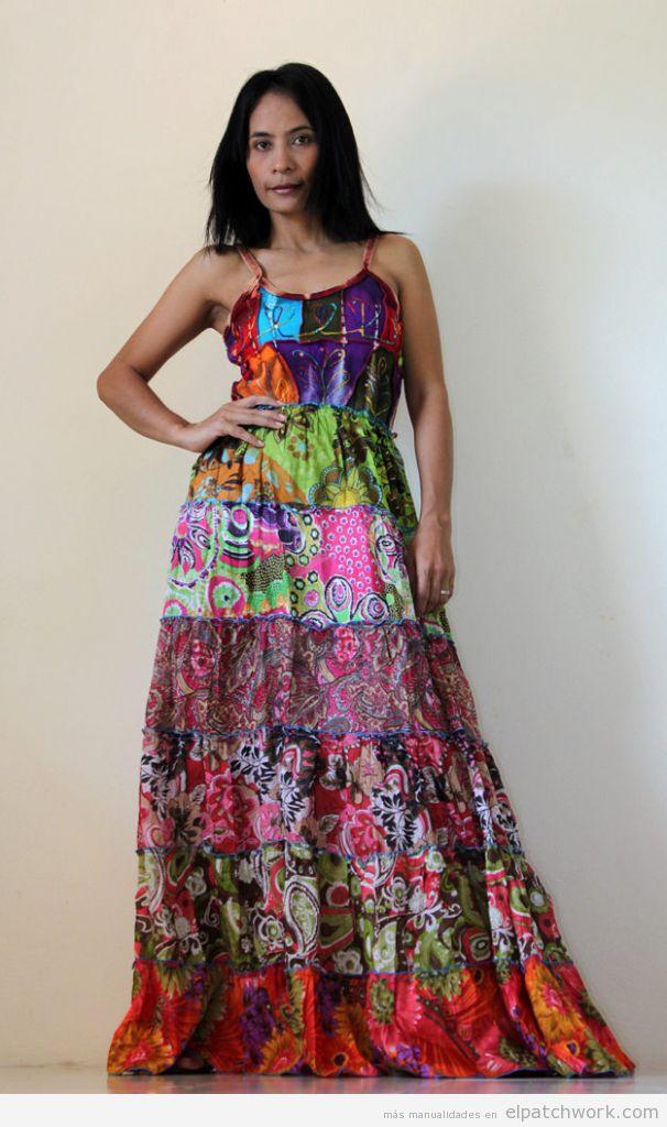 Vestido patchwork para verano