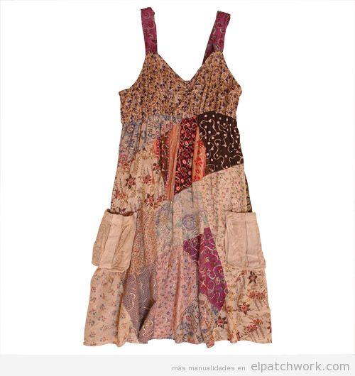 Vestido patchwork para verano boho gipsy