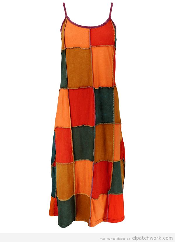 Vestido patchwork para verano 2