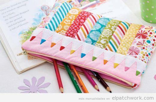 Estuche patchwork lápices