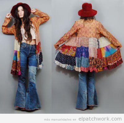 Chaquetas de patchwork DIY hippie