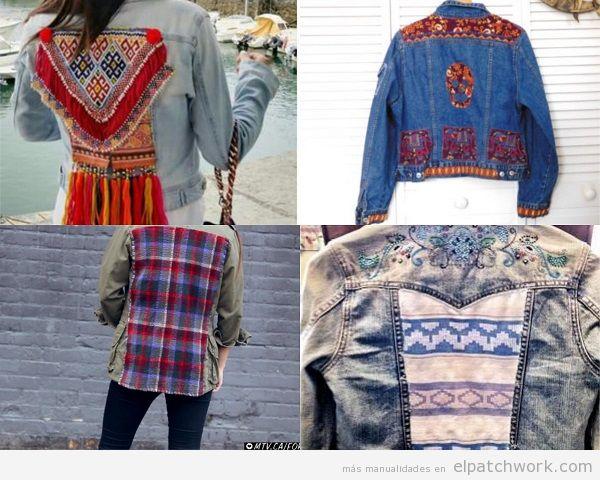Chaquetas tejanas de patchwork DIY