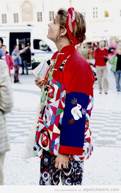 Chaqueta patchwork de moda