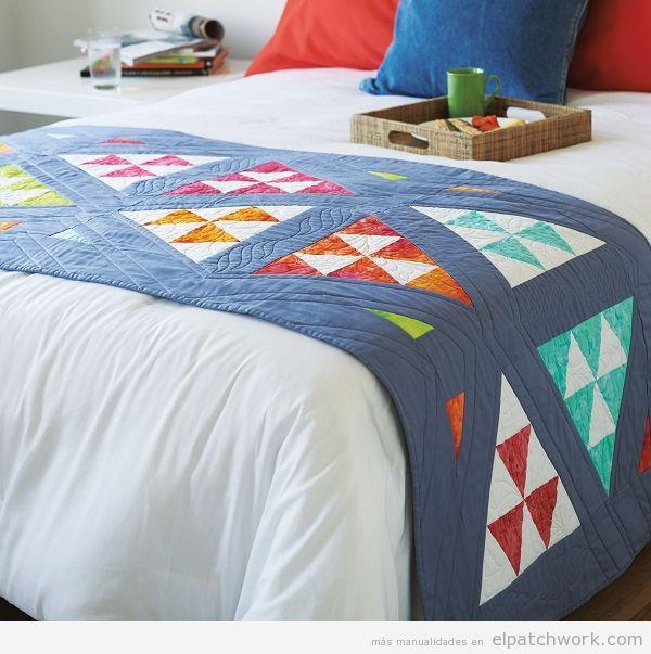 Colchas de patchwork modernas 10