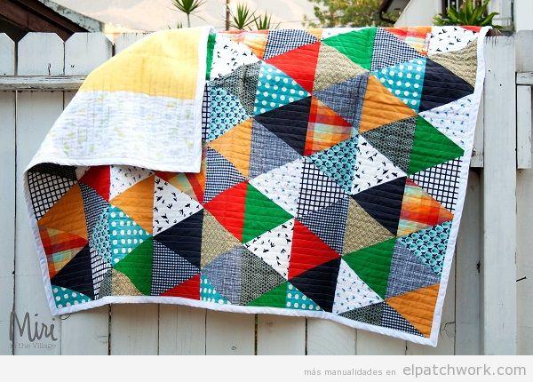 Colchas de patchwork modernas 8