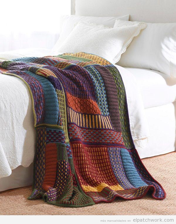 Manta patchwork camino de cama 2