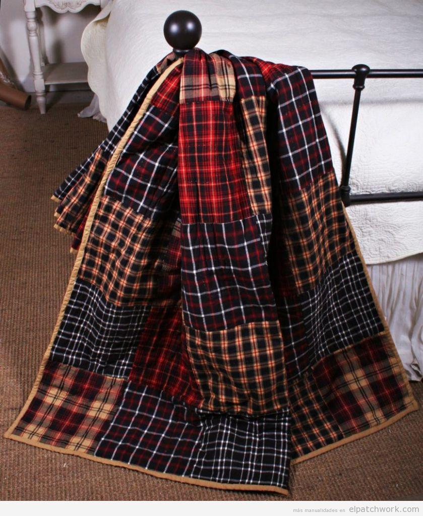 Manta patchwork camino de cama 3