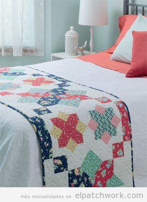 Manta patchwork camino de cama 6