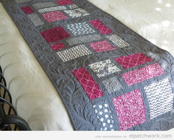 Manta patchwork camino de cama