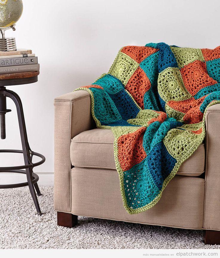 Manta patchwork sillón
