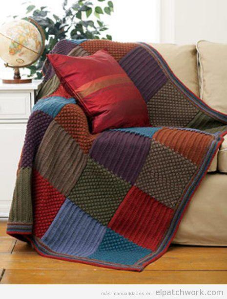 Manta patchwork sofá