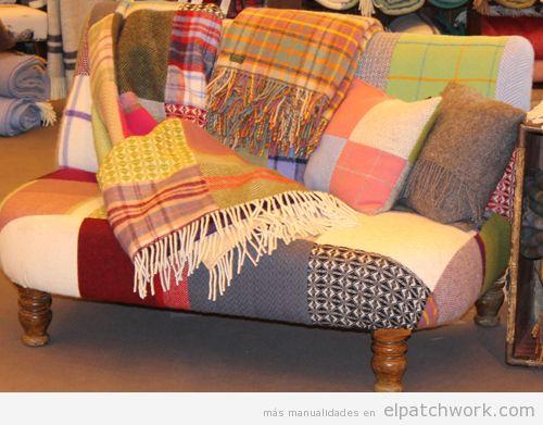 Manta patchwork sofá 2