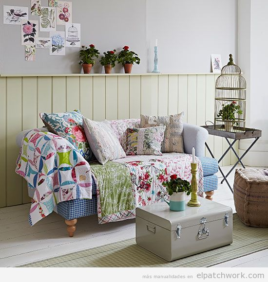 Manta patchwork sofá 3