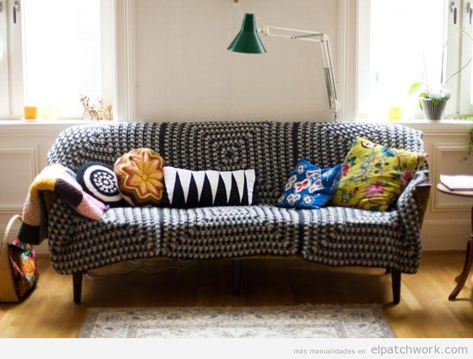 Manta patchwork sofá 4