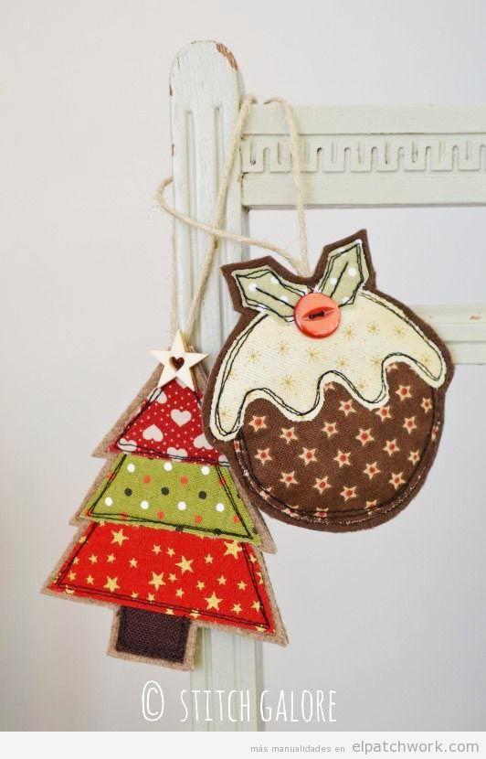 Adornos Navidad patchwork