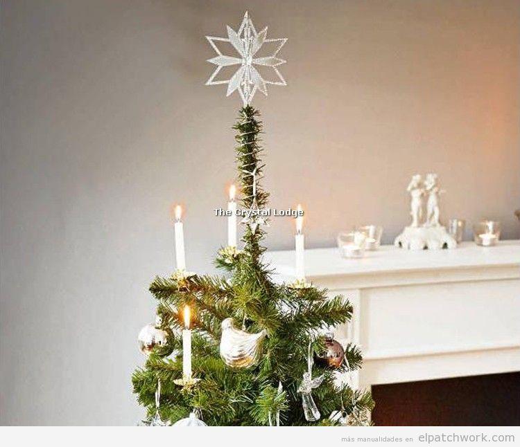Estrella árbol de Navidad de strass