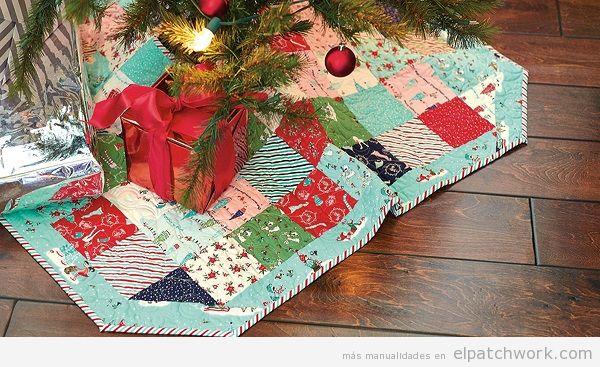 Falda árbol Navidad de patchwork