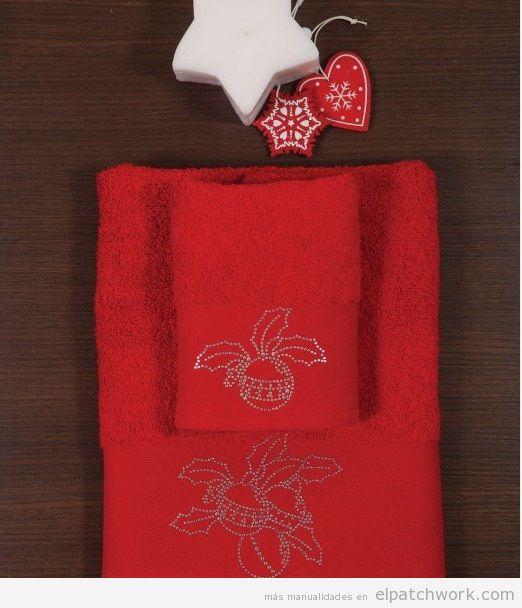 Toallas Navidad decoradas con strass 2