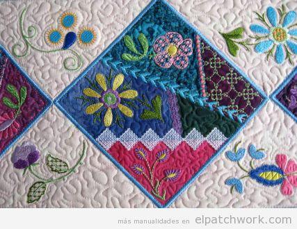 Patchwork diseño bordados