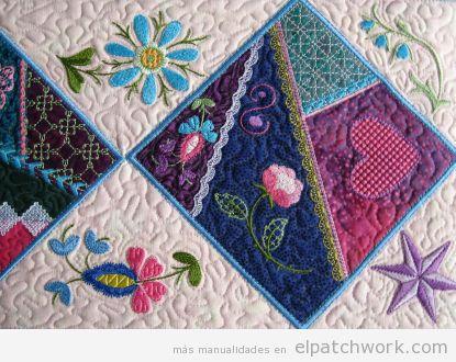 Patchwork diseño bordados 3
