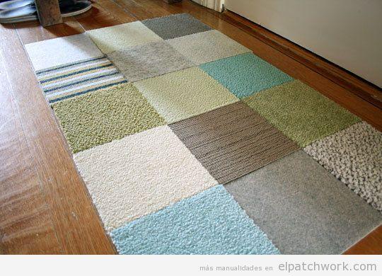 Alfombras de patchwork DIY 5