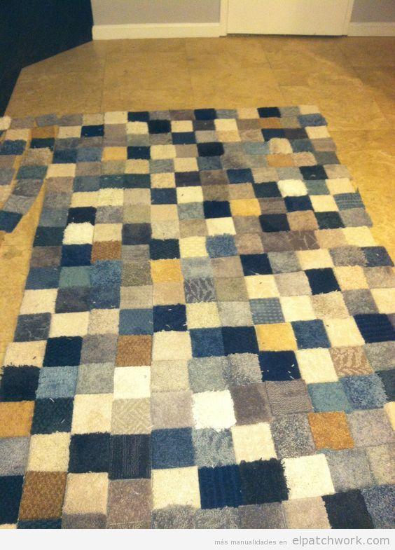 Alfombras de patchwork DIY 4