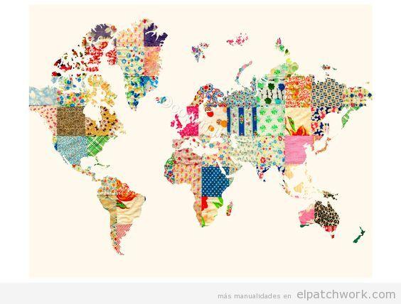 mapa mundi de patchwork 2