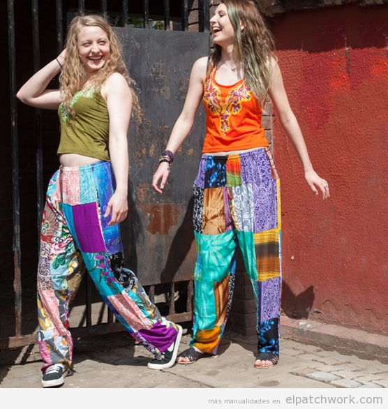 Pantalones patchwork 3