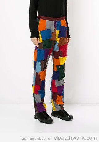 Pantalones patchwork 2