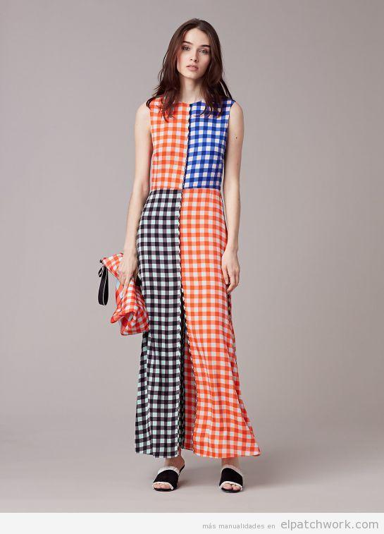 Vestido patchwork de cuadros