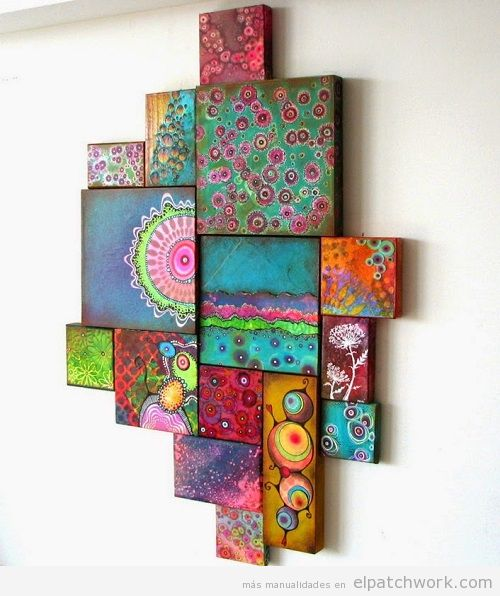 Decorar paredes patchwork 8