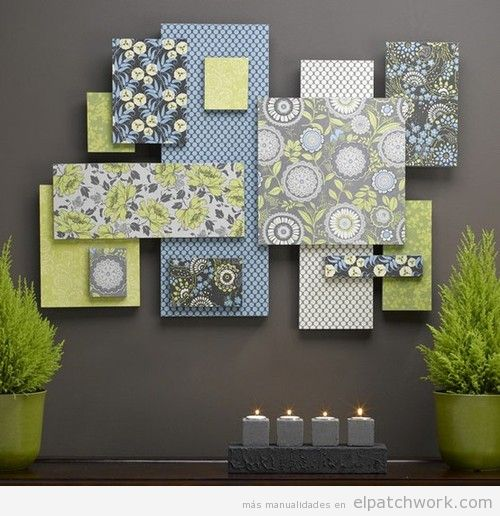 Decorar paredes patchwork