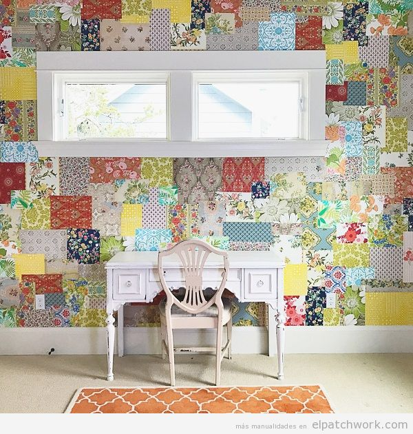 Papel pintado patchwork