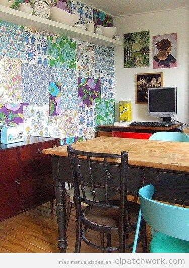 Papel pintado patchwork 8