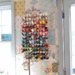 Papel pintado de patchwork para el taller o estudio en casa