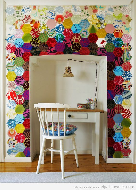 Papel pintado patchwork 10