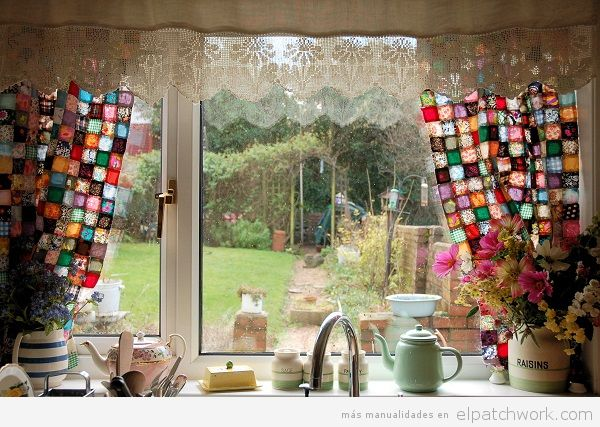 Cortina patchwork cocina