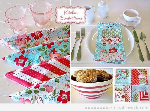 Servilletas patchwork cocina