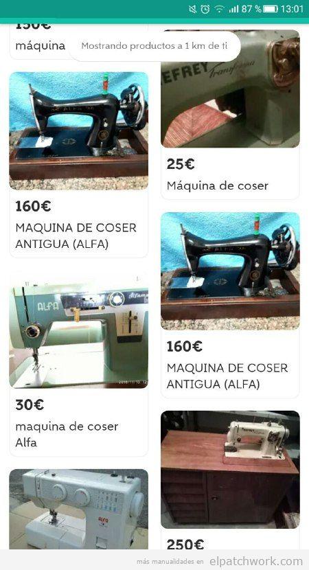 Máquinas coser Wallapop