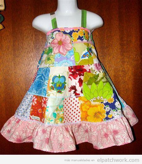 Vestidos patchwork bebés 3
