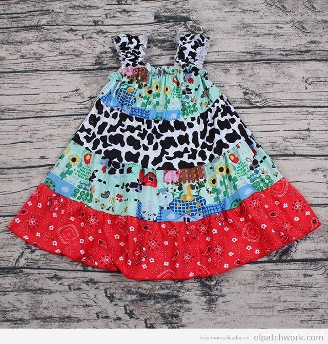 Vestidos patchwork bebés 11