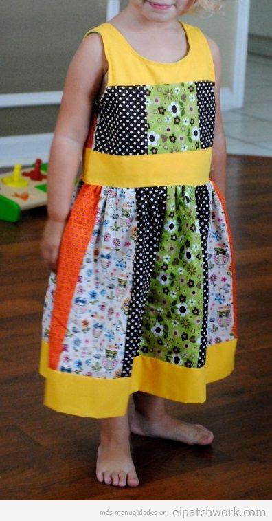 Vestidos patchwork bebés 5