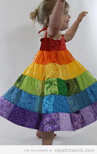 Vestidos patchwork bebés 6