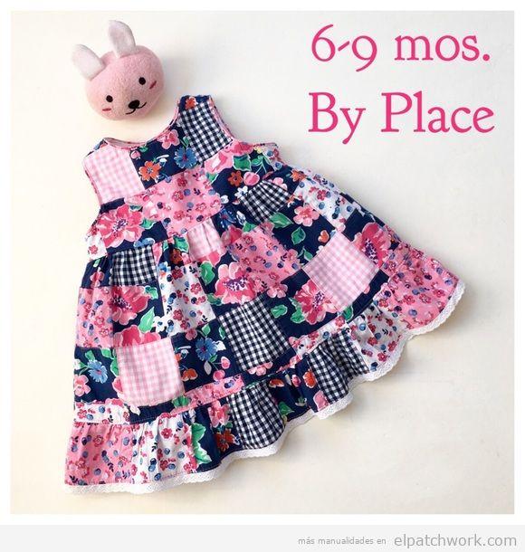 Vestidos patchwork bebés 7
